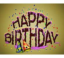 Happy Birthday Cake Photographic Print