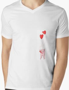 Love piggy Mens V-Neck T-Shirt