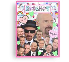 Bryan Cranston Celebrity Collage Metal Print