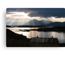 Isle of Skye from Coillegillie, Applecross Peninsula, Scotland. Canvas Print
