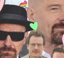 Bryan Cranston Celebrity Collage Sticker