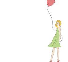 Heart balloon  by OkoLaa