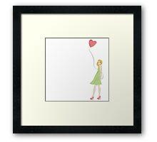 Heart balloon  Framed Print