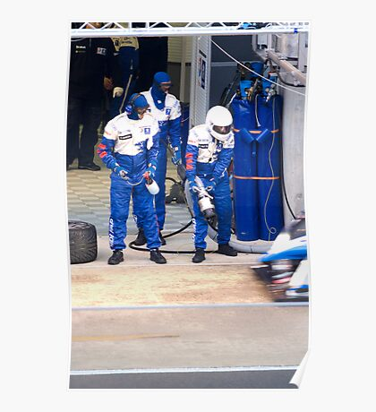 Pit stop for the Peugeot 908 HDI Poster
