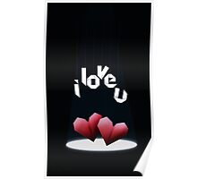 Origami Hearts Poster