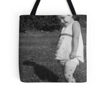 Mischieveous vintage doll - in Black & White Tote Bag