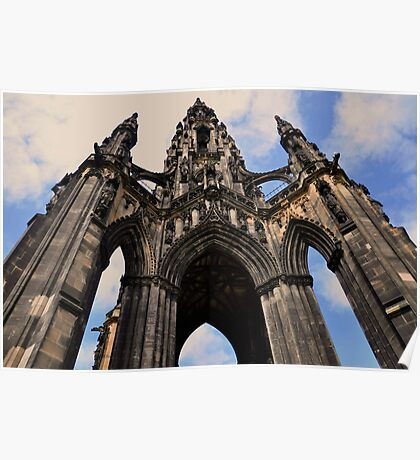 Sir Walter scott monument, Edinburgh. Poster