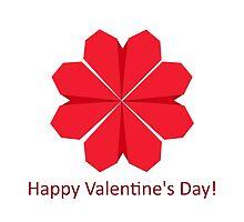 Heart shape flower by OkoLaa
