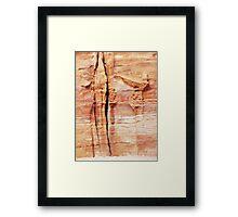 melting frontispiece Framed Print