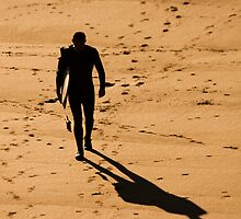 St. Finian's Bay - Lone Surfer by Peter Sweeney