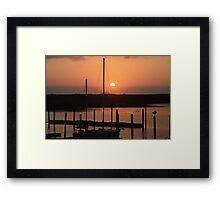 Sunset from Gold Beach Harbor Framed Print
