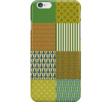 Earth Colours Abstract Patterns Faux Patchwork iPhone Case/Skin