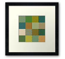 Earth Colours Abstract Patterns Faux Patchwork Framed Print