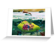 A Yellow Submarine Greeting Card