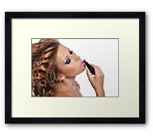 Amazing Beauty with stunning Make Up Framed Print