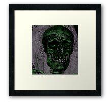 b movie skeleton Framed Print