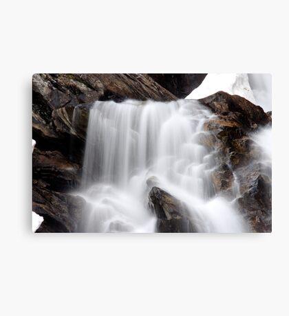 Hidden Falls - Teton National Park - Detail Canvas Print