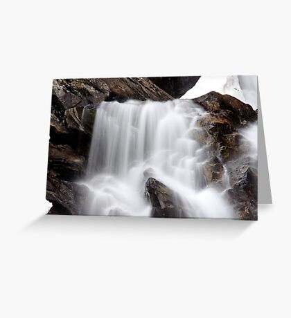 Hidden Falls - Teton National Park - Detail Greeting Card
