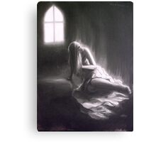 A Seizure Of Life; charcoal and chalk Canvas Print