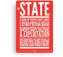 The State Canvas Print