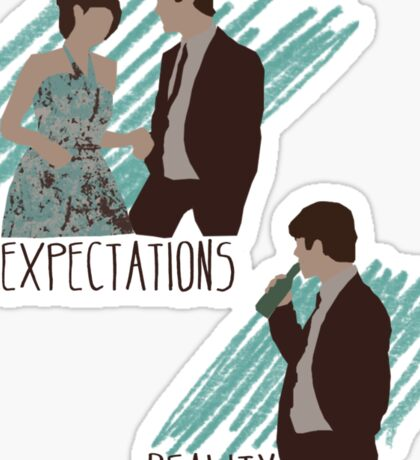 Expectations VS Real life. Sticker
