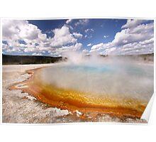 Sunset Lake, Yellowstone Poster