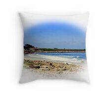 A Quiet Carmel Beach Throw Pillow