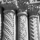 Detail - pillars at the Grand Masonic Temple - Philadelphia, Pennsylvania by Kent Burton