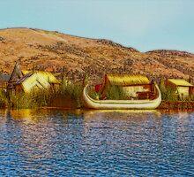 The Floating Island of Uros. Lake Titicaca. Peru by vadim19