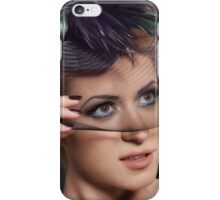 Retro Portrait of Lovely young woman iPhone Case/Skin