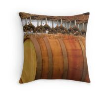 Tasting Room Barrel Throw Pillow