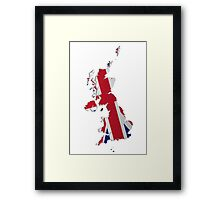Map of the UK and Crown Dependencies 2 Framed Print