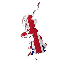 Map of the UK and Crown Dependencies 2 Photographic Print
