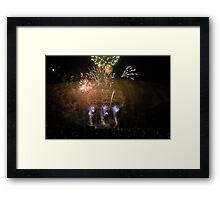 Stone Mountain Laser Light Show Framed Print