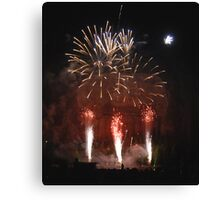 Shooting the Fireworks Canvas Print