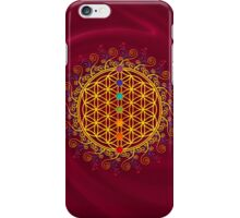 FLOWER OF LIFE, CHAKRAS, SPIRITUALITY, YOGA, ZEN,  iPhone Case/Skin