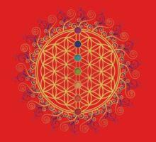 FLOWER OF LIFE, CHAKRAS, SPIRITUALITY, YOGA, ZEN,  One Piece - Short Sleeve