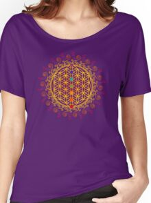 FLOWER OF LIFE, CHAKRAS, SPIRITUALITY, YOGA, ZEN,  Women's Relaxed Fit T-Shirt