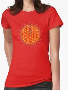 FLOWER OF LIFE, CHAKRAS, SPIRITUALITY, YOGA, ZEN,  Womens Fitted T-Shirt