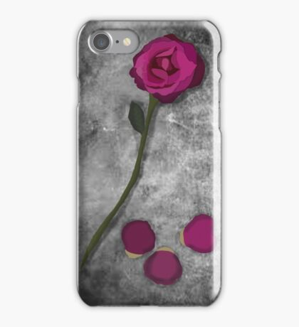 Beauty and the Beast Rose iPhone Case/Skin