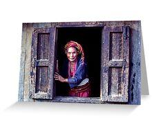 Open window Greeting Card