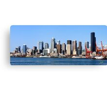 Seattle Skyline Fourteen Canvas Print