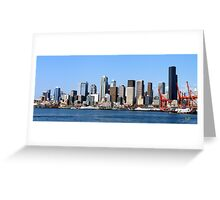 Seattle Skyline Fourteen Greeting Card