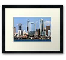 Seattle Skyline Twelve Framed Print