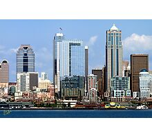 Seattle Skyline Twelve Photographic Print