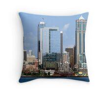 Seattle Skyline Twelve Throw Pillow