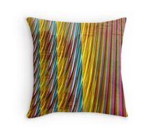 pinstripes from the fair Throw Pillow