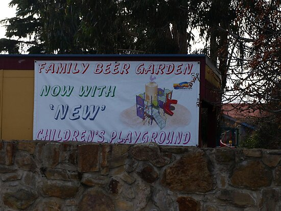 Beer Garden lake George hotel Bungendore nsw by Tom McDonnell