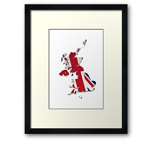 Map of the UK and Crown Dependencies 4 Framed Print