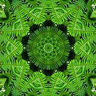 Emerald mandala. by Marilyn Baldey